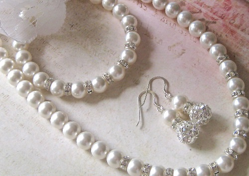 pearl white gold jewelry