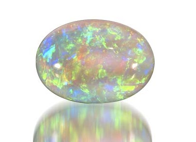 shiny colored opal